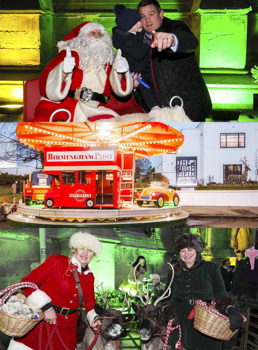 The Christmas Switch.Edgbaston Village Christmas Light Switch On Event The